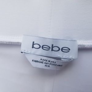 bebe Skirts - Bebe  White Pencil Skirt Woven Detail On Sides NWT